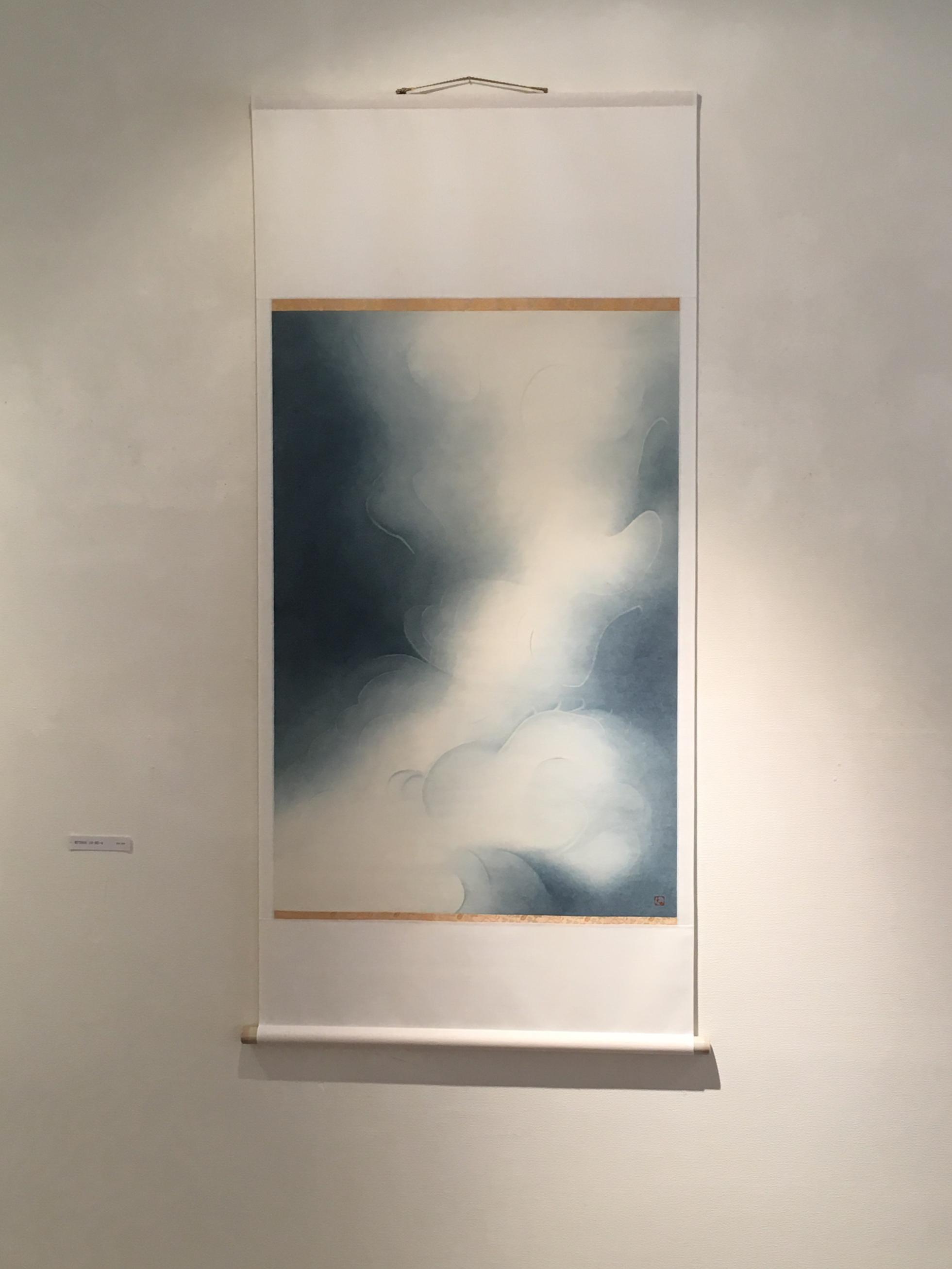 SHIMOMUKAI Keiko, works of Japanese paper, pigments, and resin glue