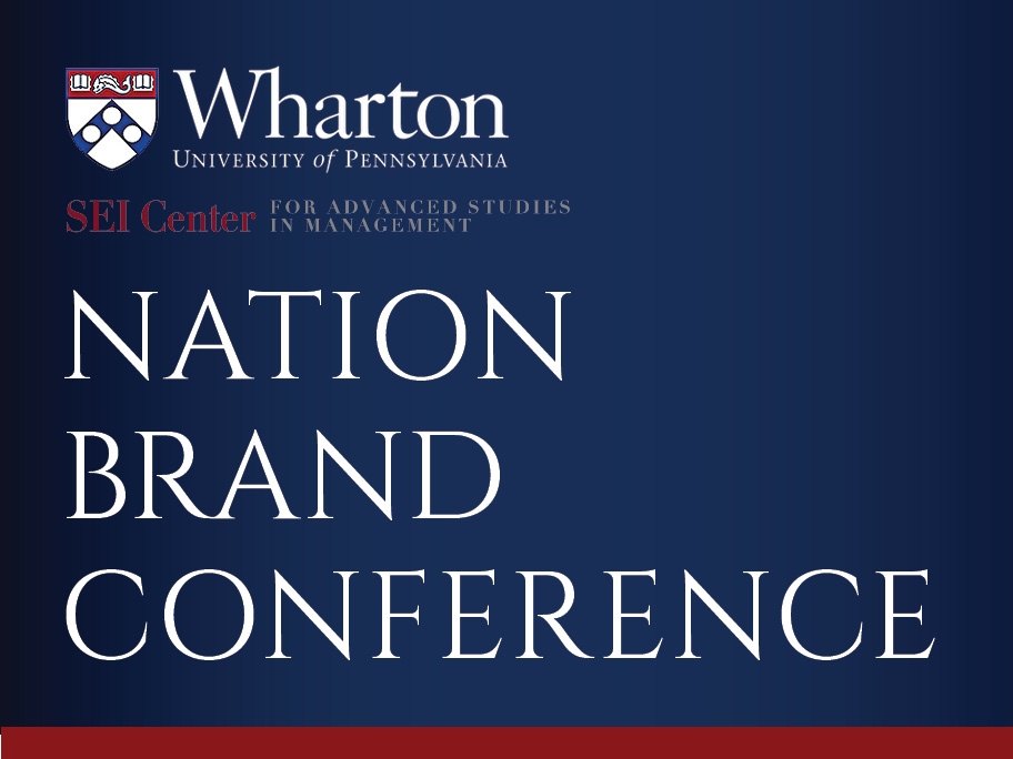 Nation Brand Conference - MindState participated in the Nation Brand Conference at the Wharton School of Business at the University of Pennsylvania
