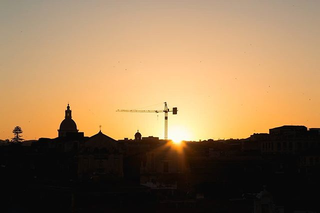 Watching the sunset over Catania. . 17/05/17 . With my erasmus brother and sister @nikos.voutsas @renata_zampol . . . . #italia #italy #sunset #sunset_vision #tramonto #sicilia #catania #island #erasmus #travel #travelphotography #ilikeitaly #welltraveled #gameoftones #ig_italia #instatravels #beautifuldestinations #photooftheday #photographer #landscape #cityscape #wanderlust #explore #travelgram #travels #travelblog #erasmustrip #visititaly #ig_color