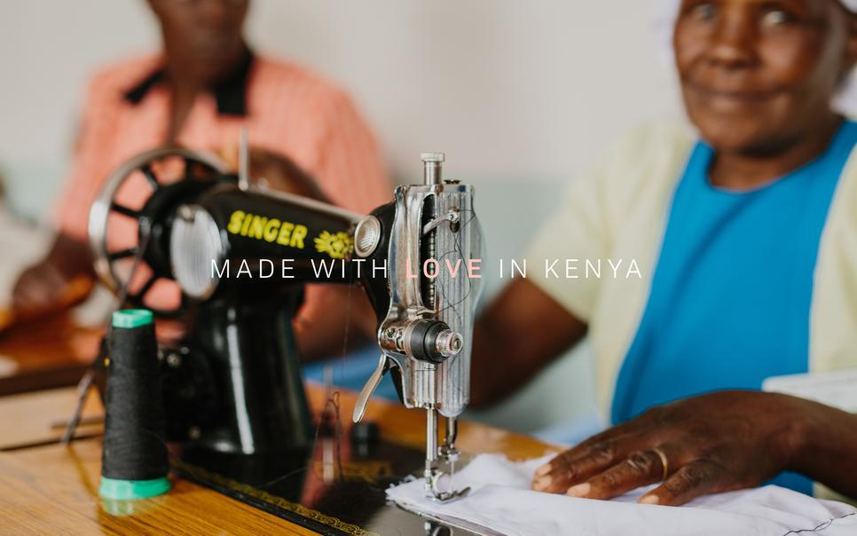 Project Biashara - Kenyan Woman Hand Making Clothes - Made with love in Kenya