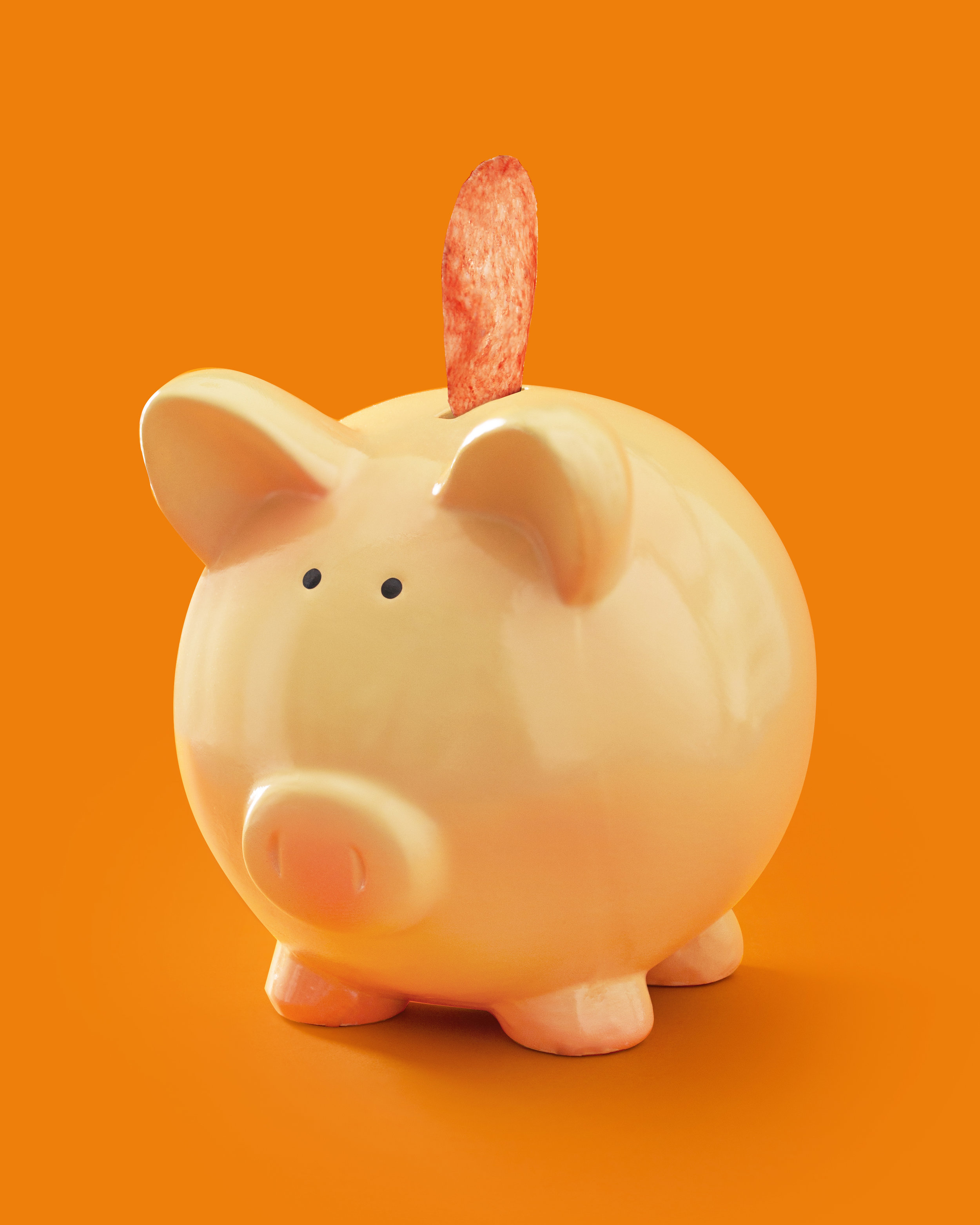 Cute & colorful piggy bank used to reference the importance of bank accounts.