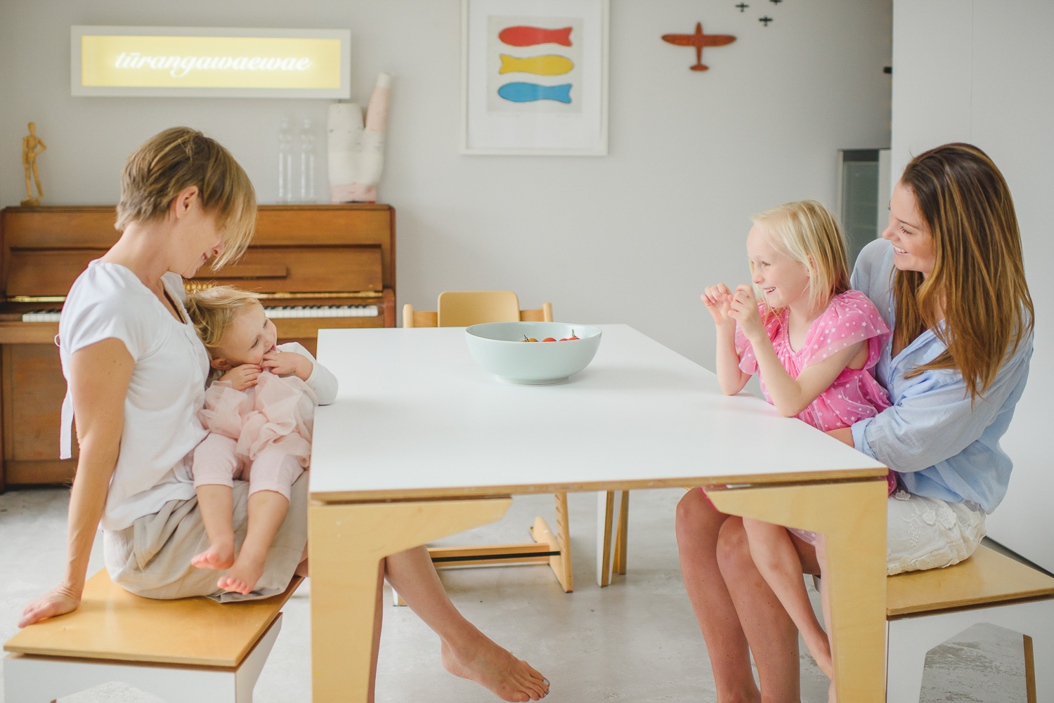 lifestyle family photography session in Ponsonby with mother and daughters by Auckland family photographer Sarah Clayton