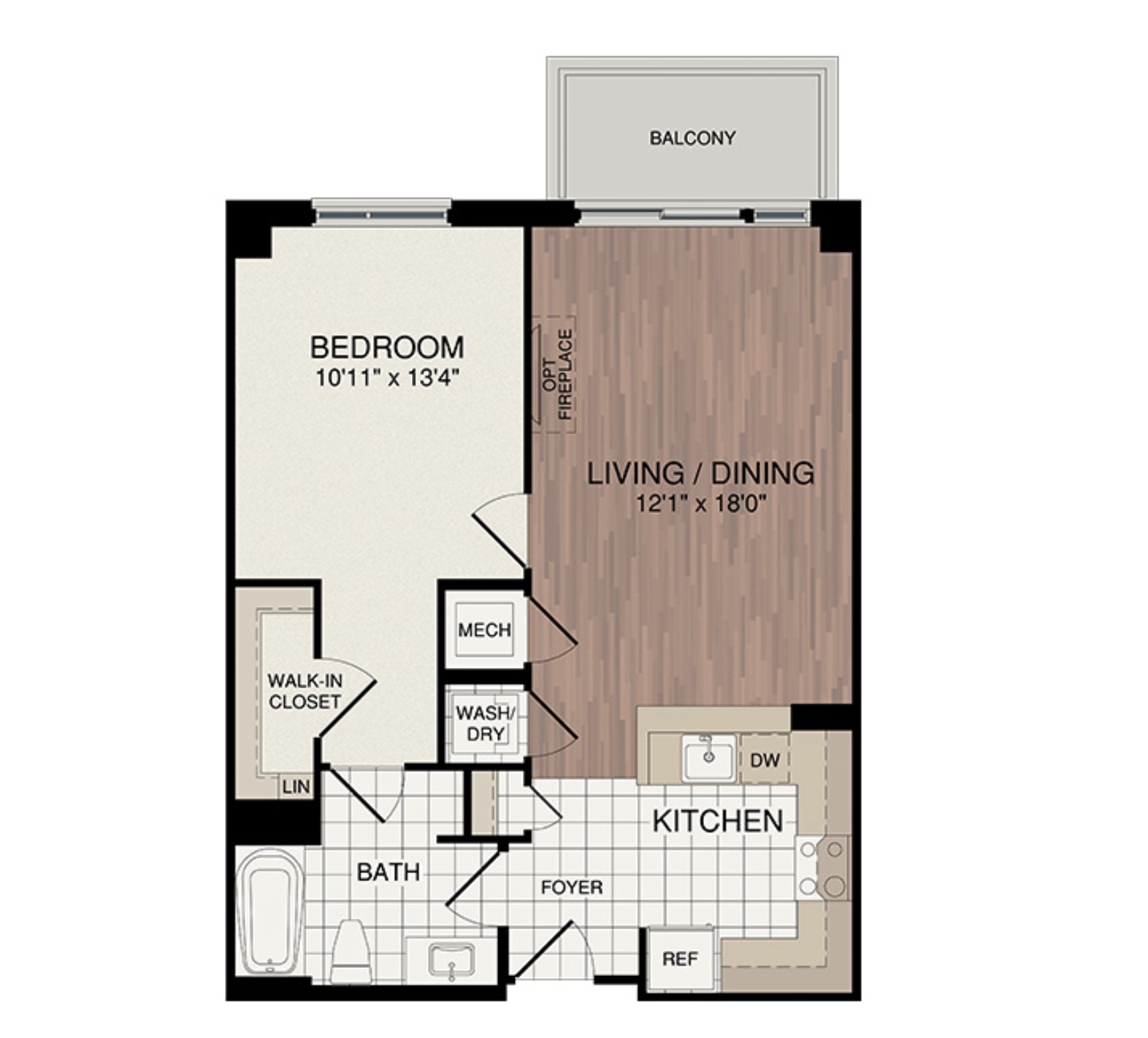 One Bedroom - Starting from the low $400's3 Samples Shown