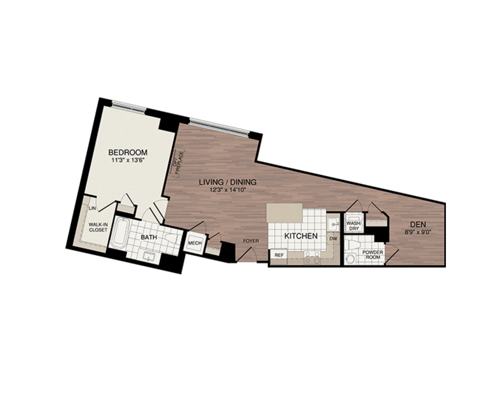 1 Bedroom + Den - Starting from the low $500's3 Samples Shown