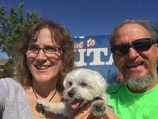 Tim & Carol with their last kid at home, Sam