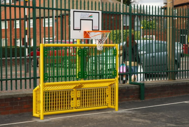 Goals and Basketball Hoop  - Combined