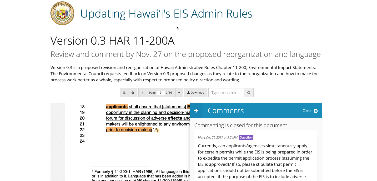Hawai'i OEQC - Policy Review
