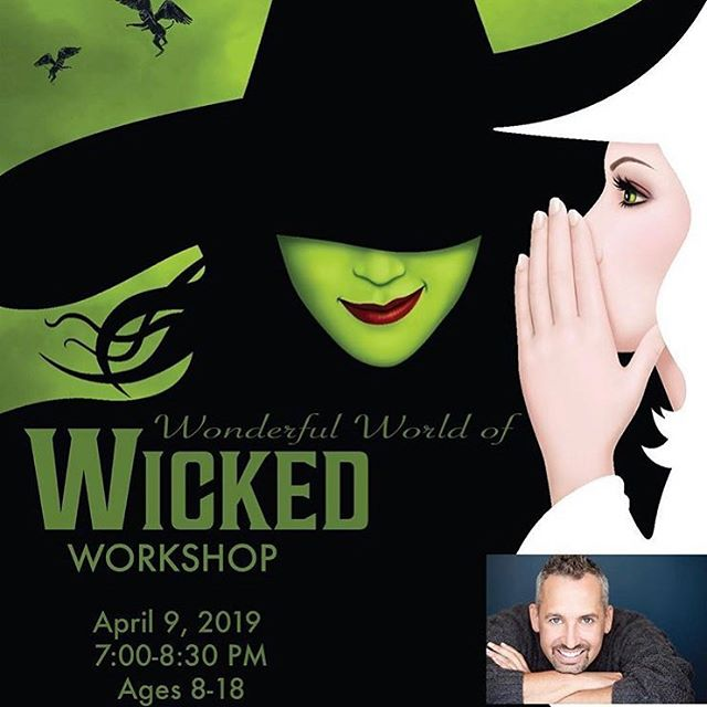 What is this Feeling? Excitement! Our Wicked Workshop has finally arrived! There is still a chance to join online or you can pay at the door! You'll be saying Thank Goodness I took this amazing masterclass with original cast member Ben Cameron! You don't want to miss this Popular event! Check out our website for details!