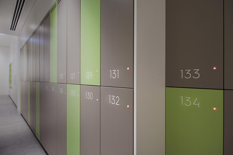 Locker numbering at 485 La Trobe street