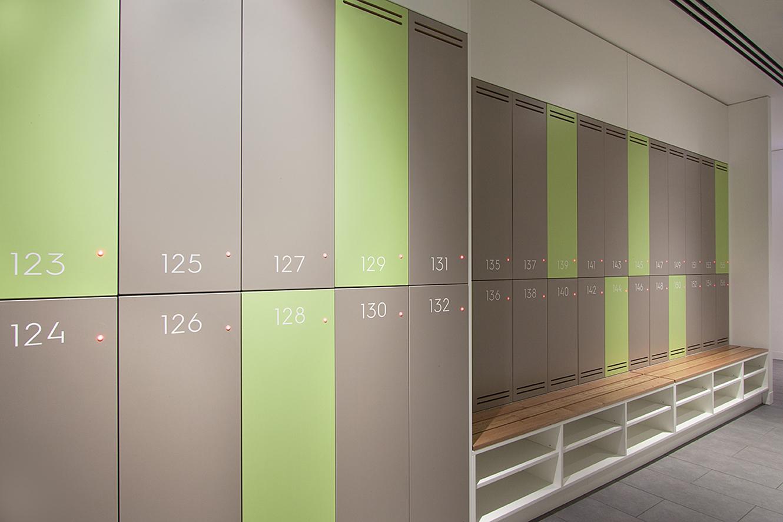 Close up of 2 door locker by Lockin