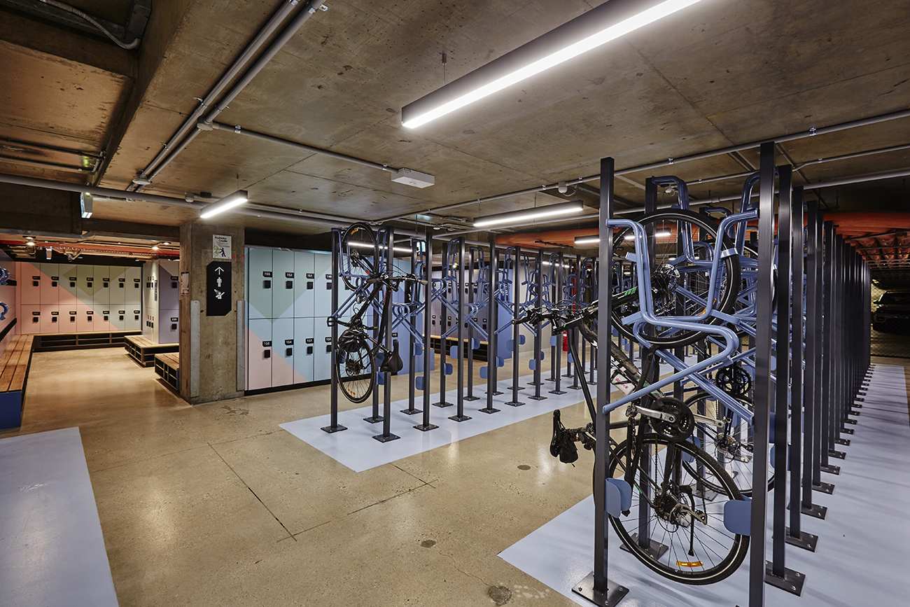 Southgate towers bike racks and lockers