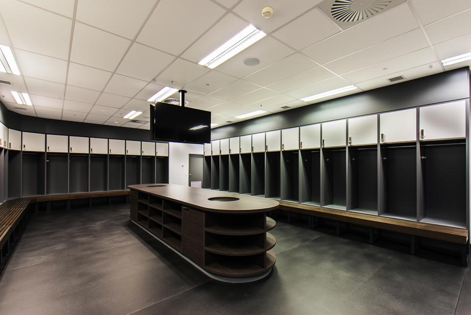 Melbourne Rebels custom change room lockers