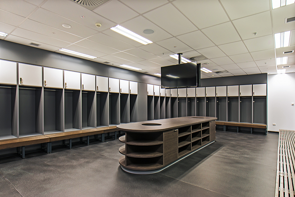 Melbourne Rebels change room lockers by Lockin