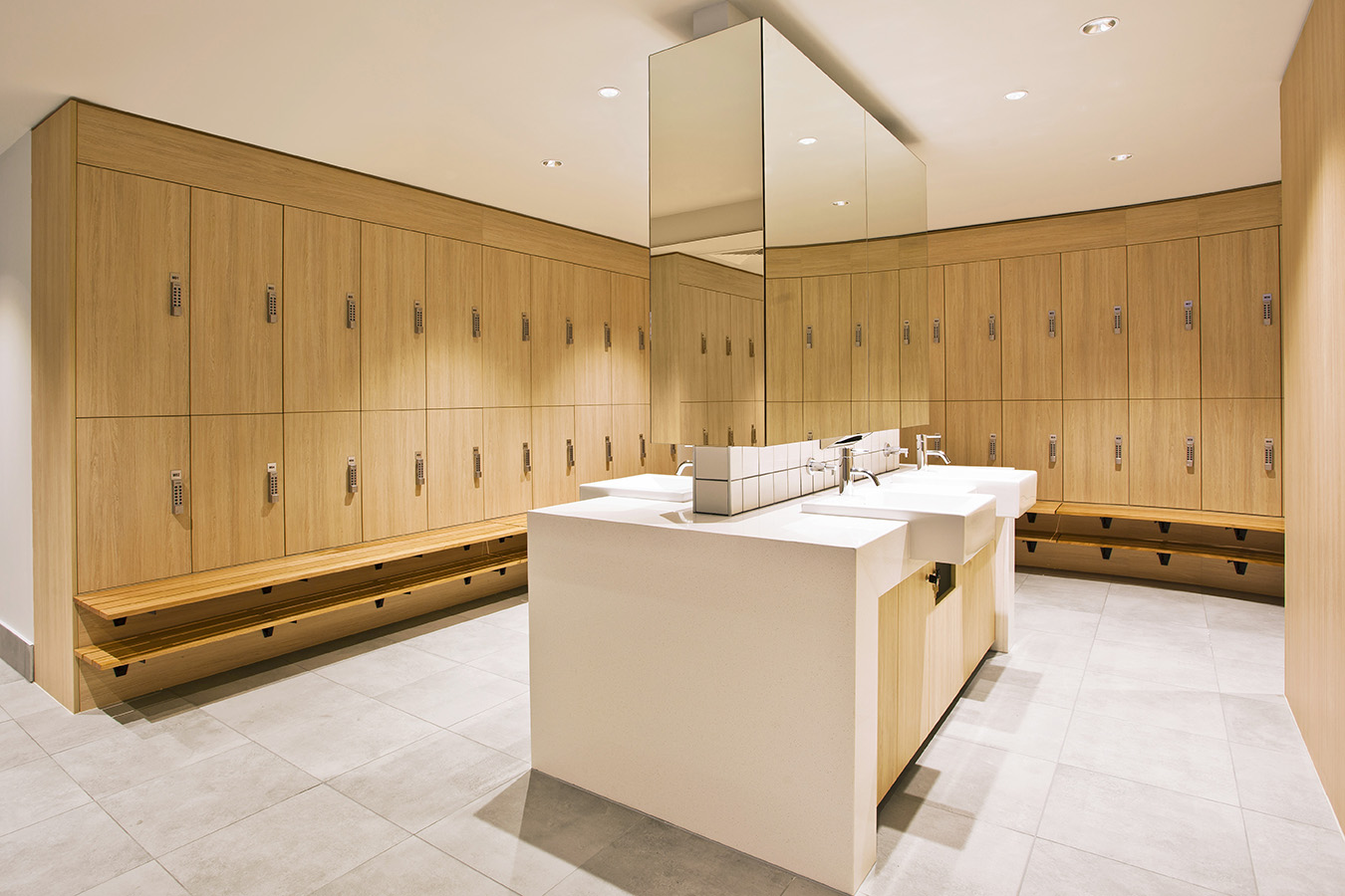 Vanity and Lockers at Innovation Place