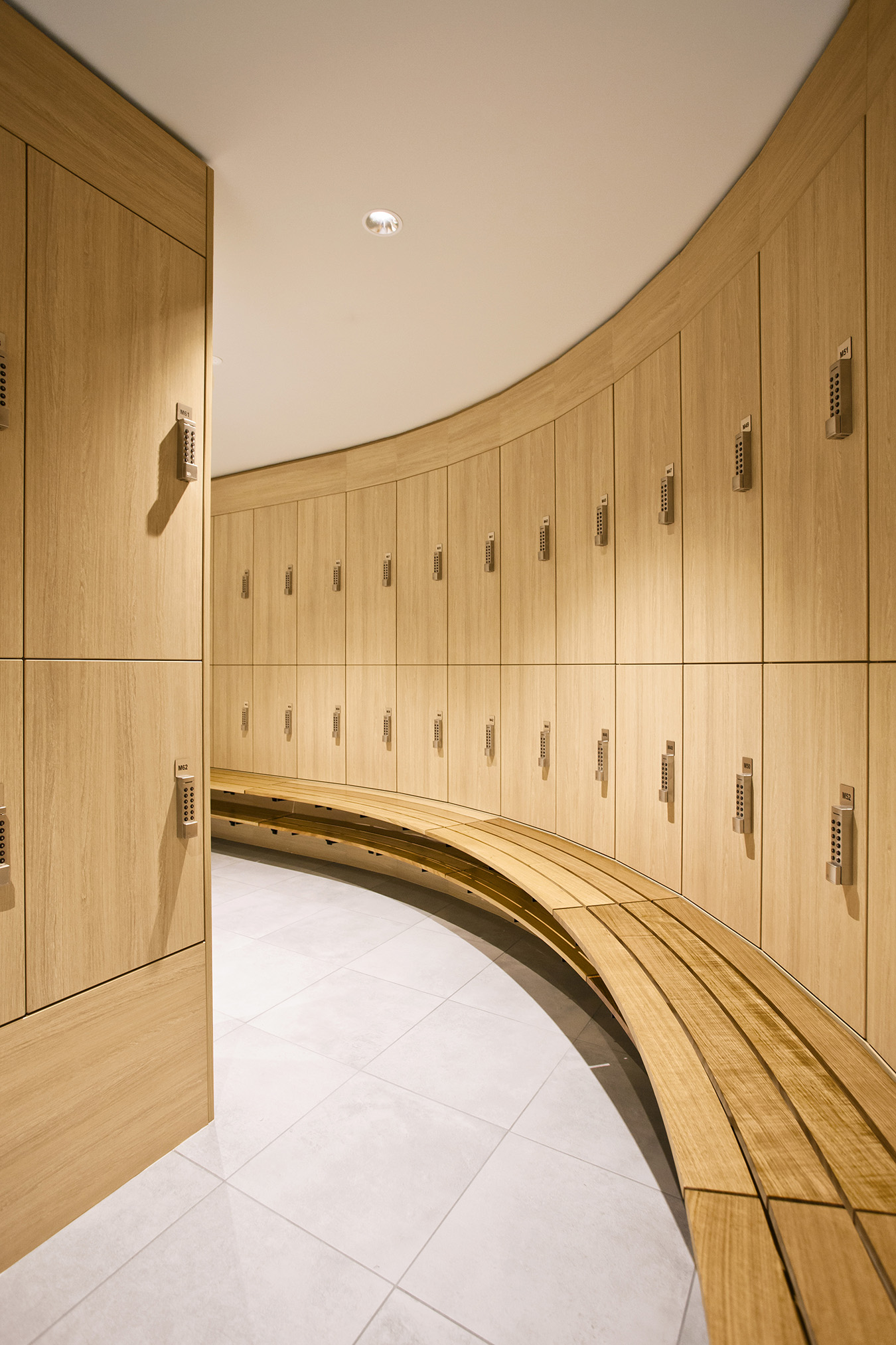 Curved Lockers by Lockin at Innovation Place