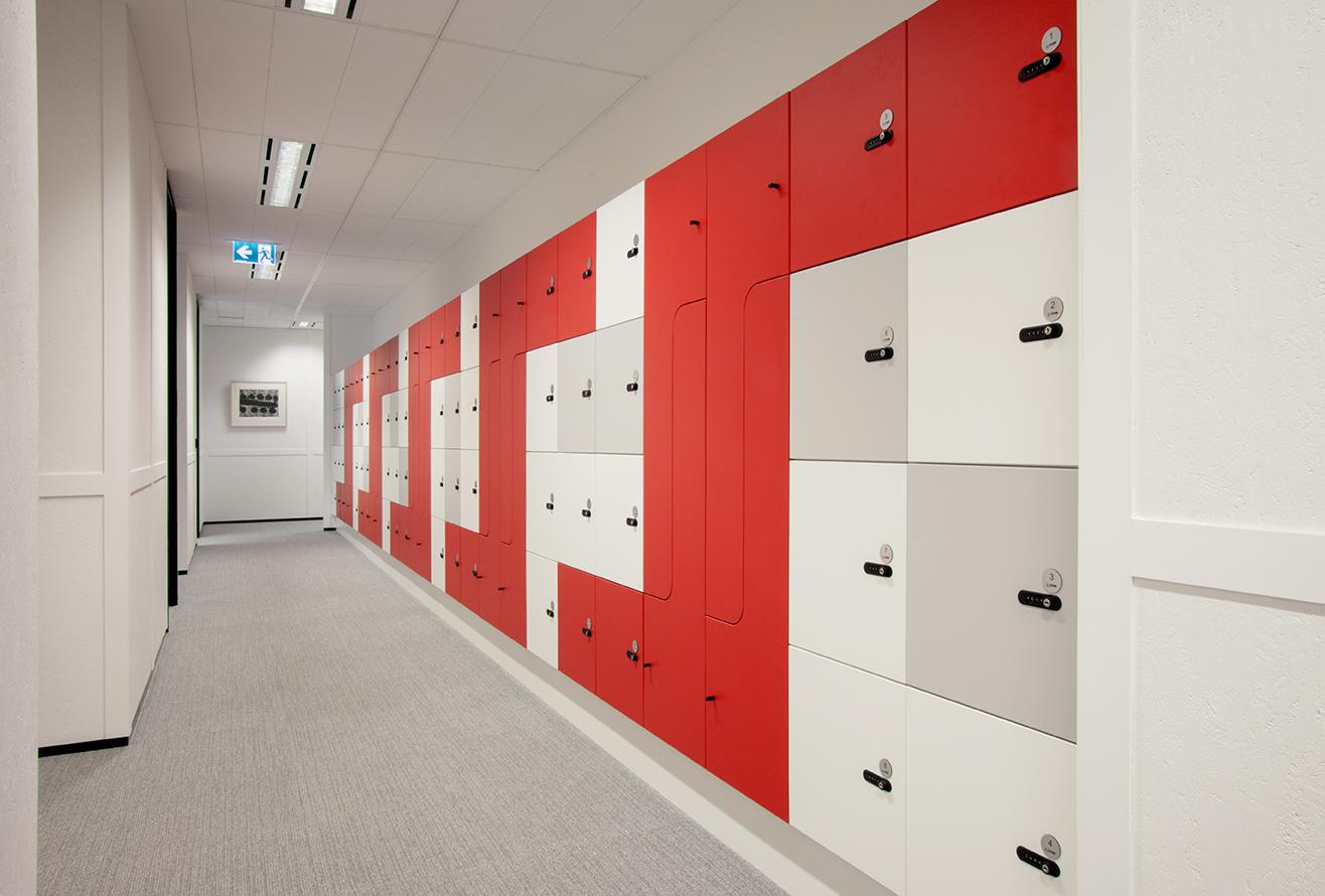 Custom made lockers by Lockin at Myer Family Co