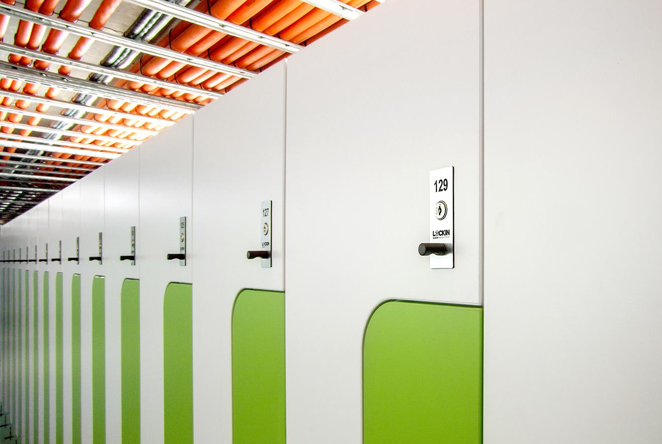 Metro Trains EOT lockers by Lockin