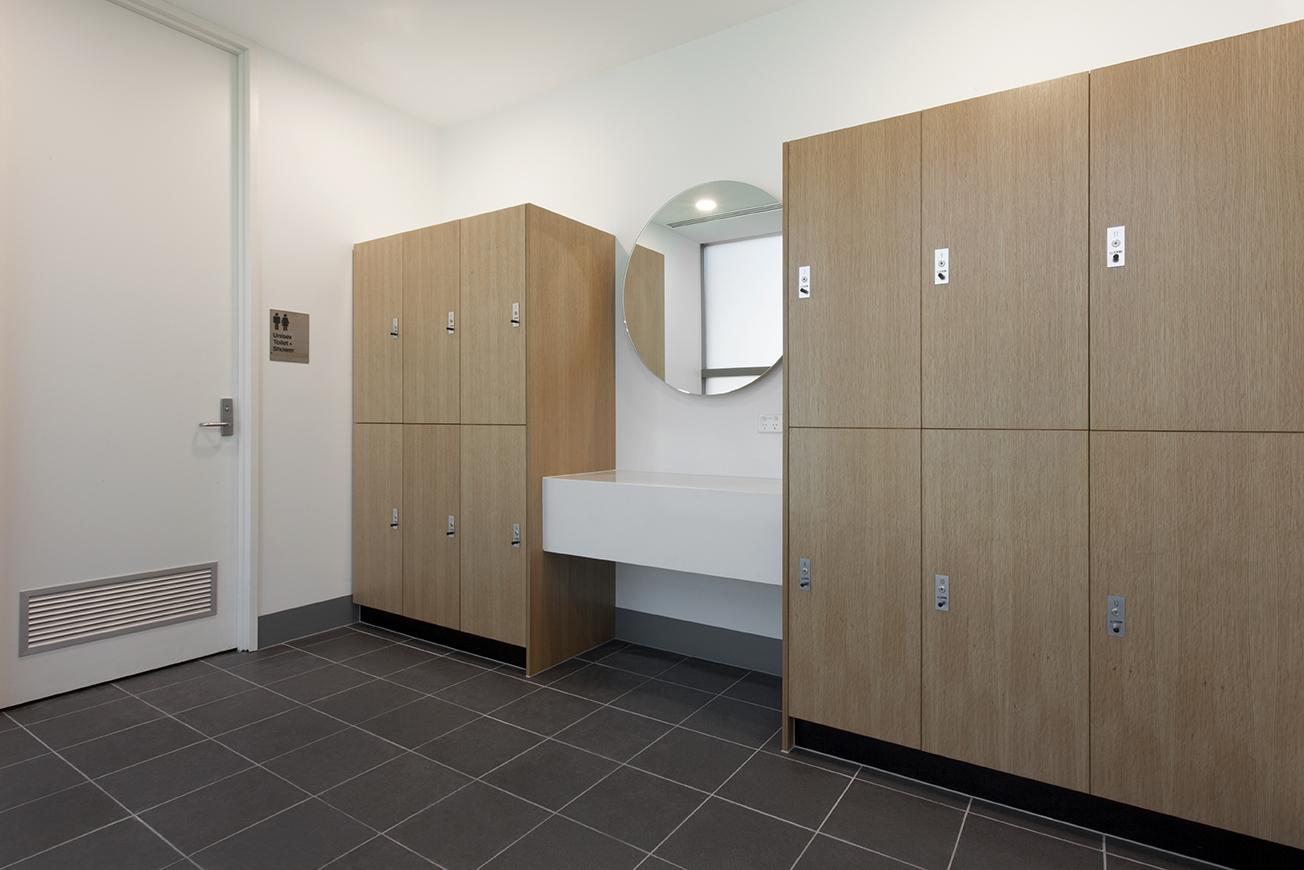 Dexus end-of-trip lockers P2 hanging range by Lockin
