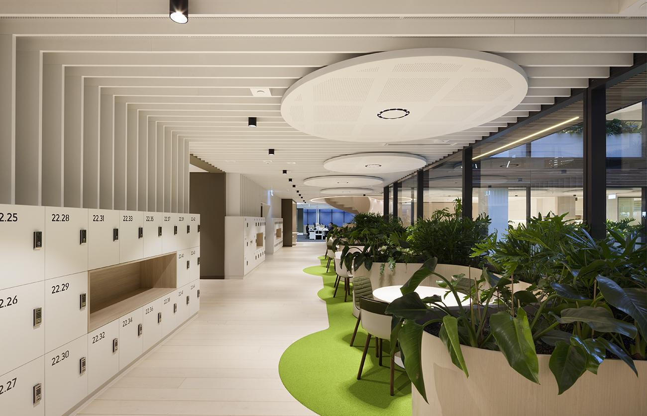 Transurban office lockers by Lockin in Melbourne