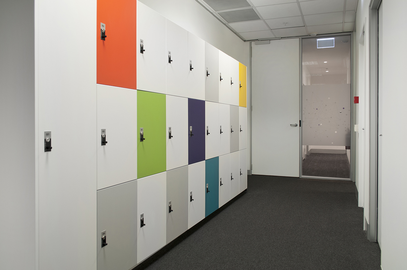 MYOB staff lockers by Lockin Lockers