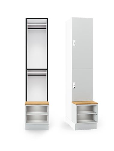 PS2 shoe shelf locker