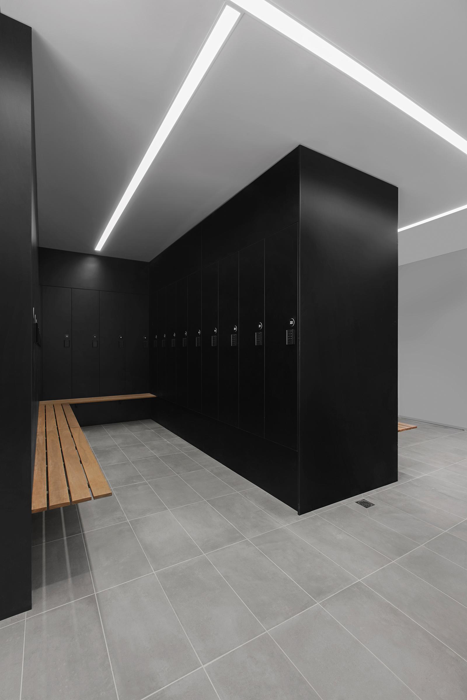 Staff lockers at Powercor  Carisbrook