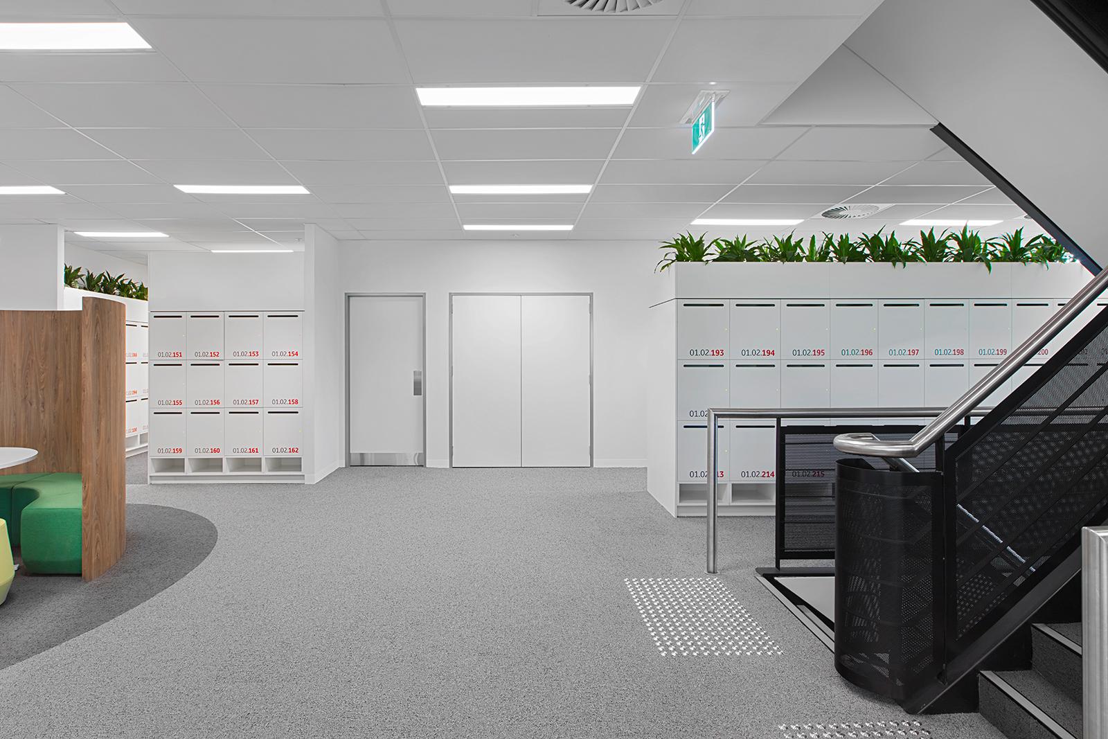 Planter box lockers at Toyota Australia