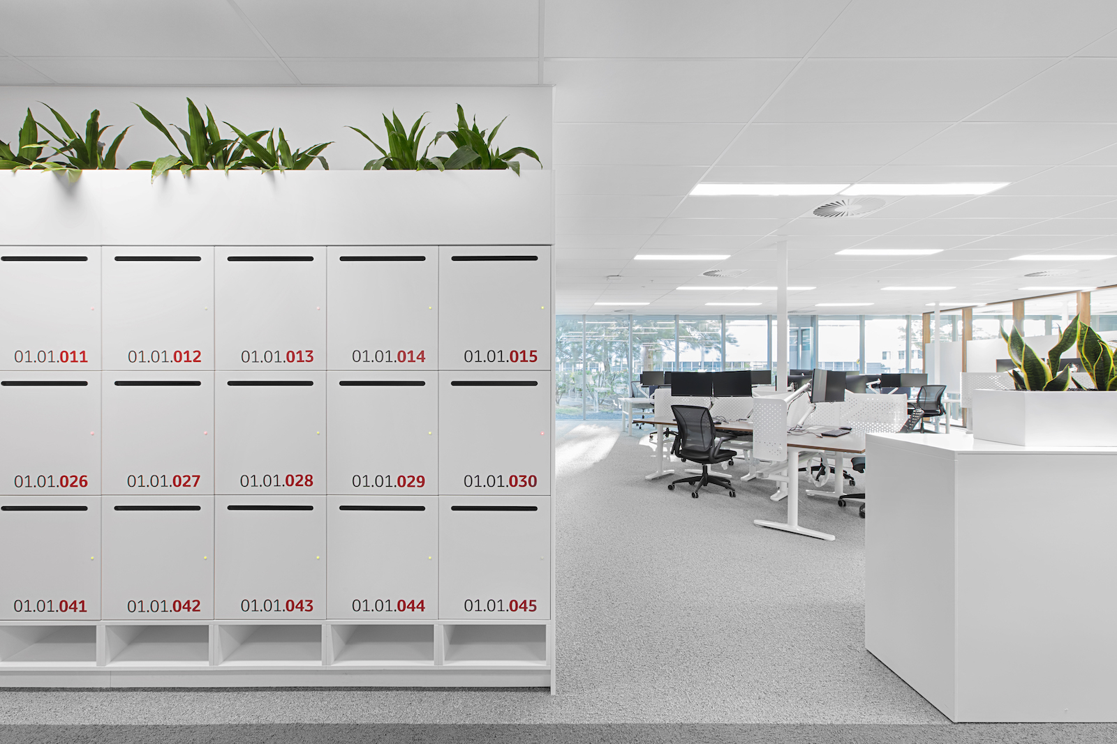 Toyota office lockers by Lockin