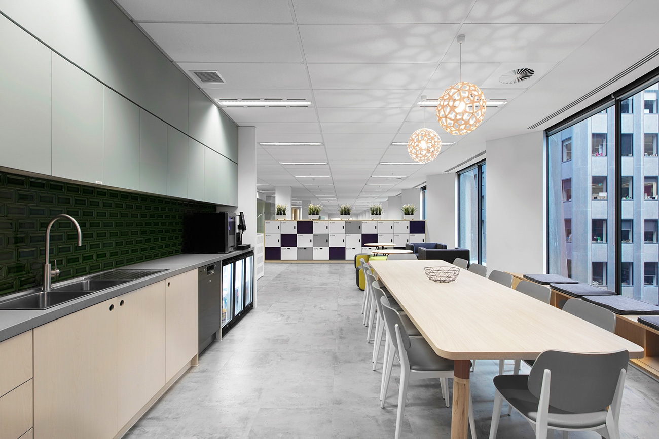 Lockers in the office by Lockin at Willis Towers Watson