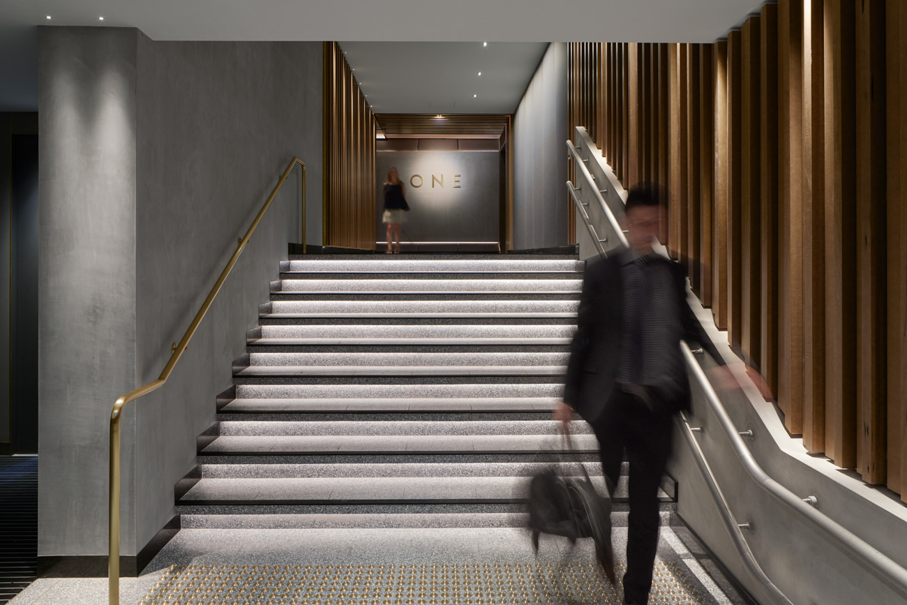entrance of 101 collins street EOT