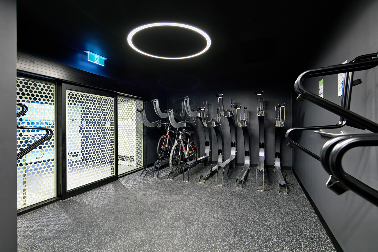 Bike storage at 420 St Kilda Road