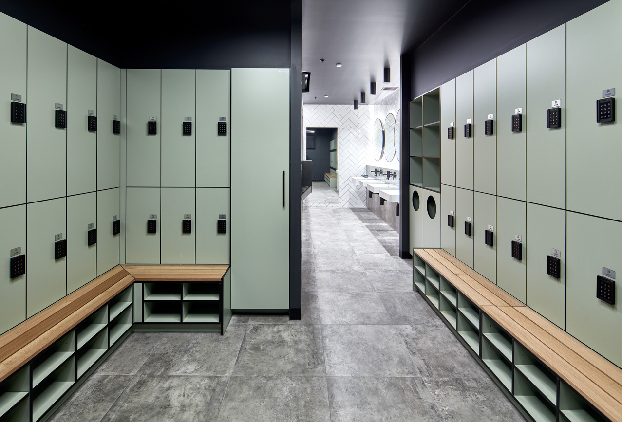 Change room lockers at 420 St Kilda Road