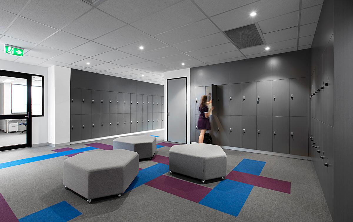 School lockers at Southern Cross Grammar Caroline Springs