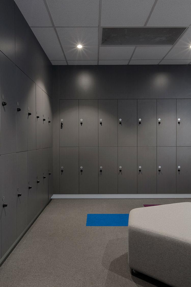 school lockers with padlock