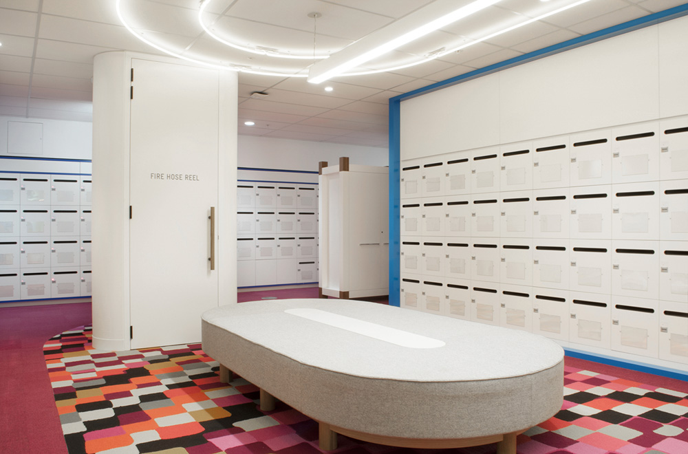 swipe card access lockers at Medibank