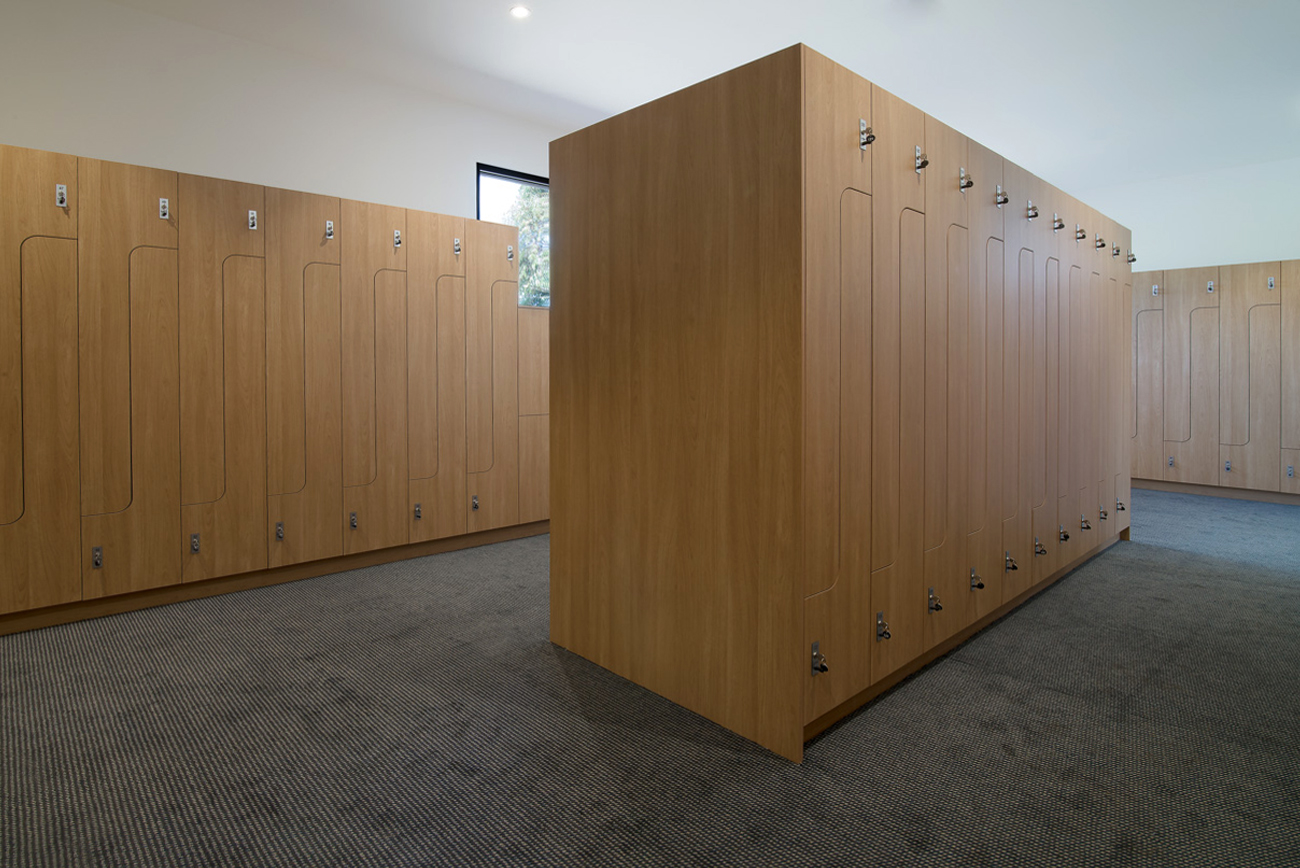 Change room lockers at Northern Golf Club