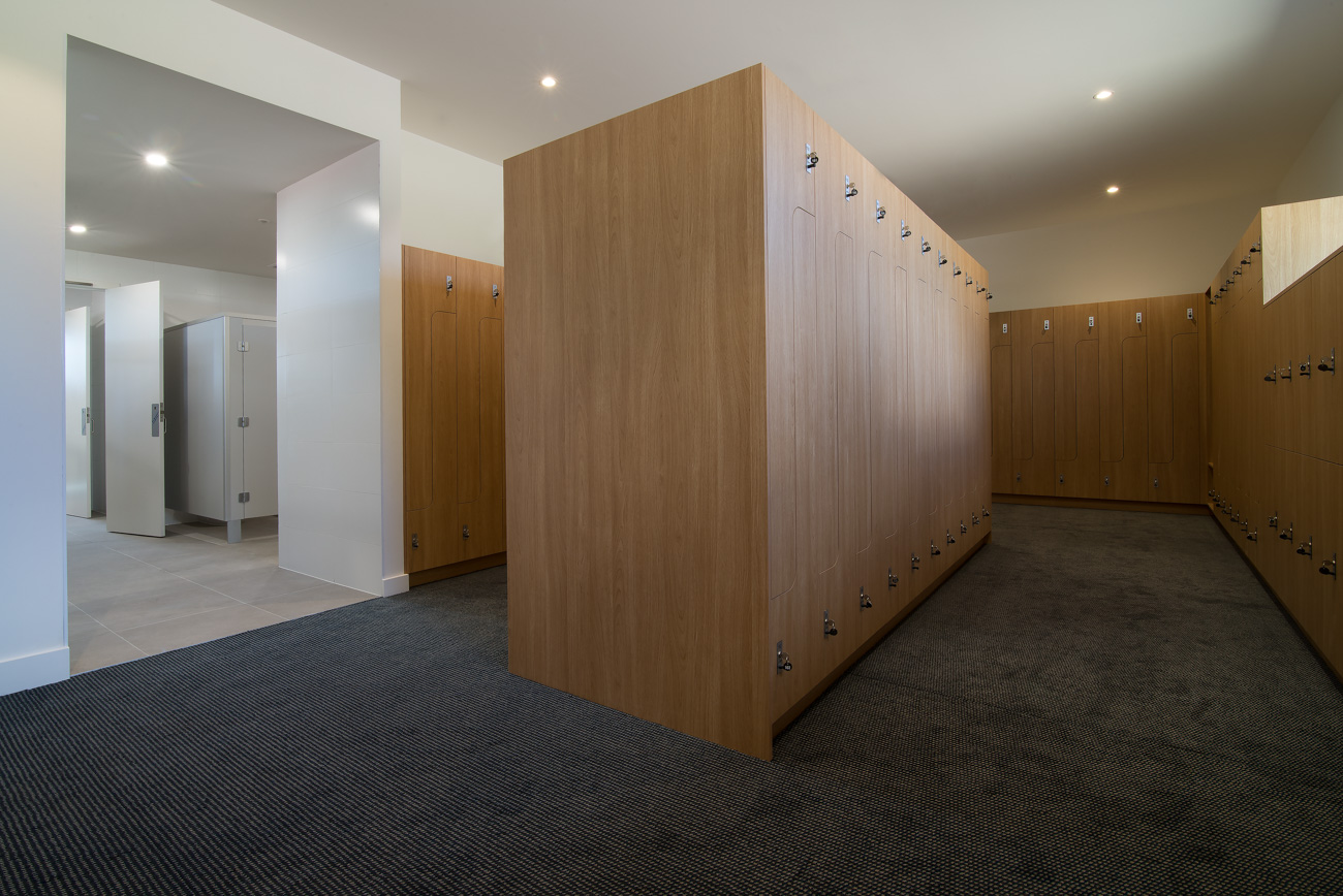 Wood lockers at Northern Golf Club