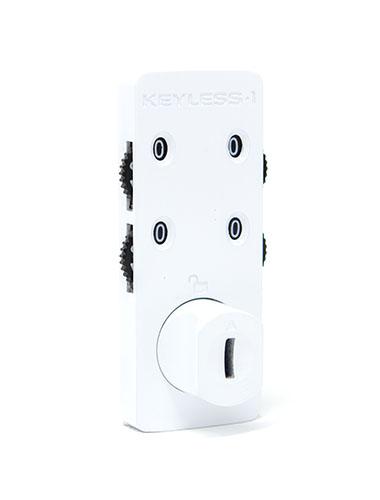 White locker combination lock