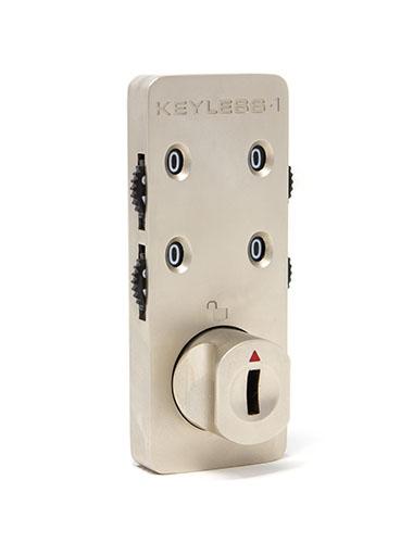 Satin nickel locker combination lock