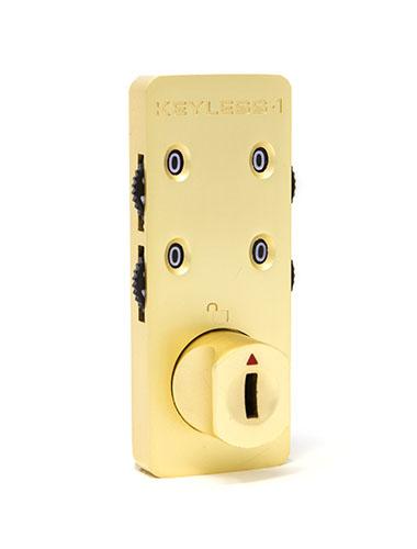 Gold locker combination lock