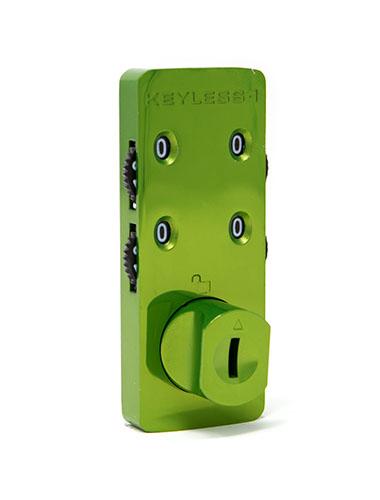 Green locker combination lock