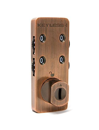 Antique copper locker combination lock