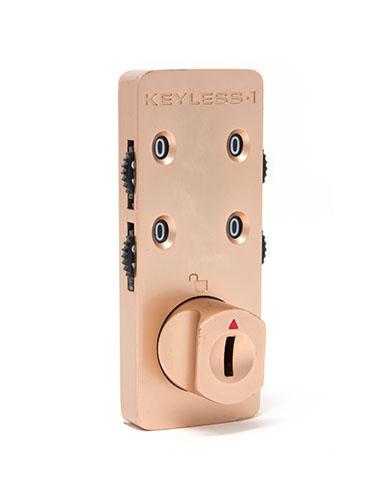 Rose gold locker combination lock