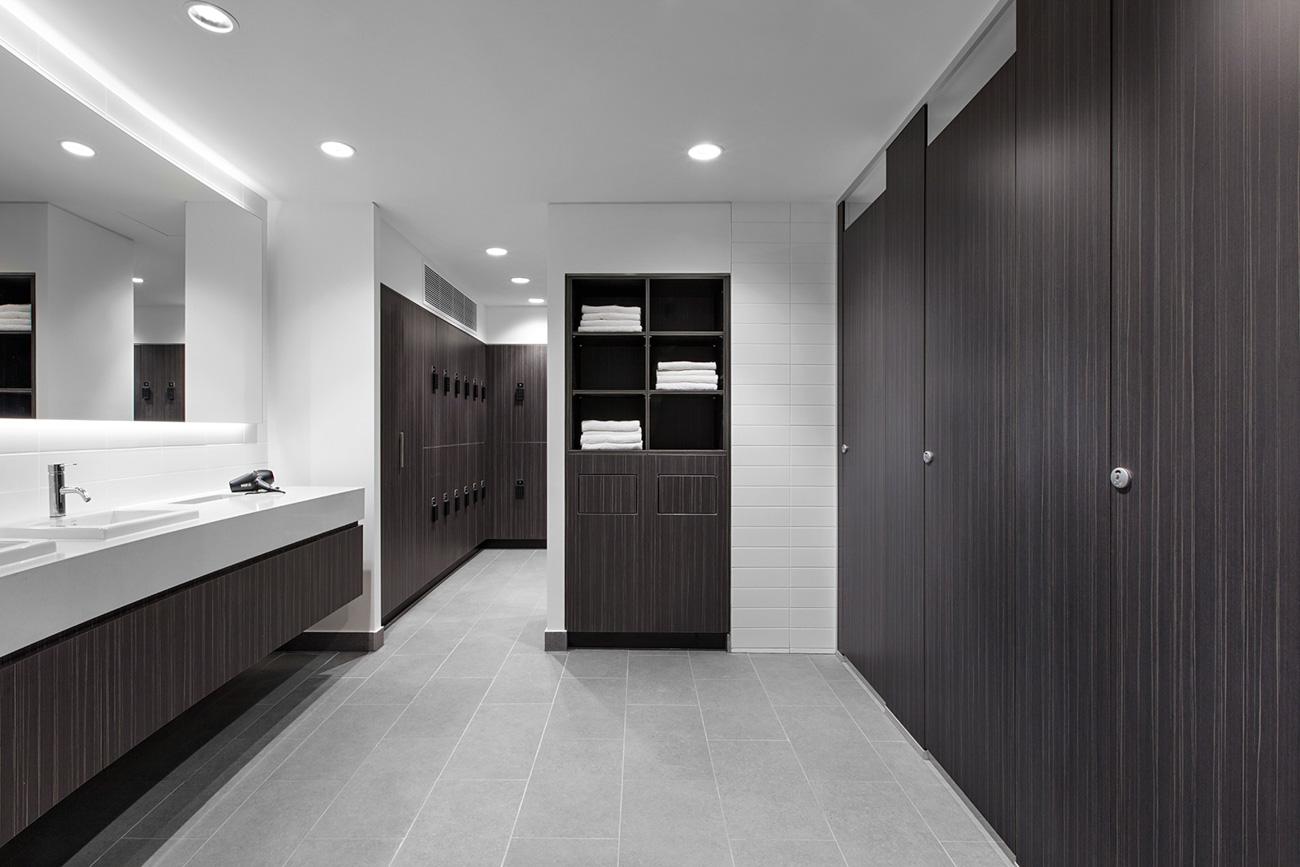 Change room lockers at 1 Nicholson Street