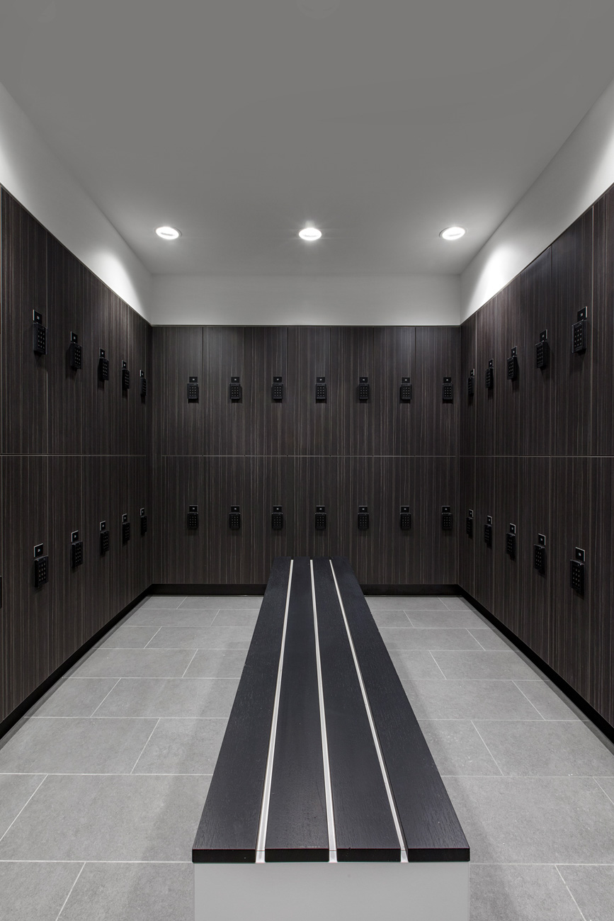 Change room lockers at Melbourne End of trip facility