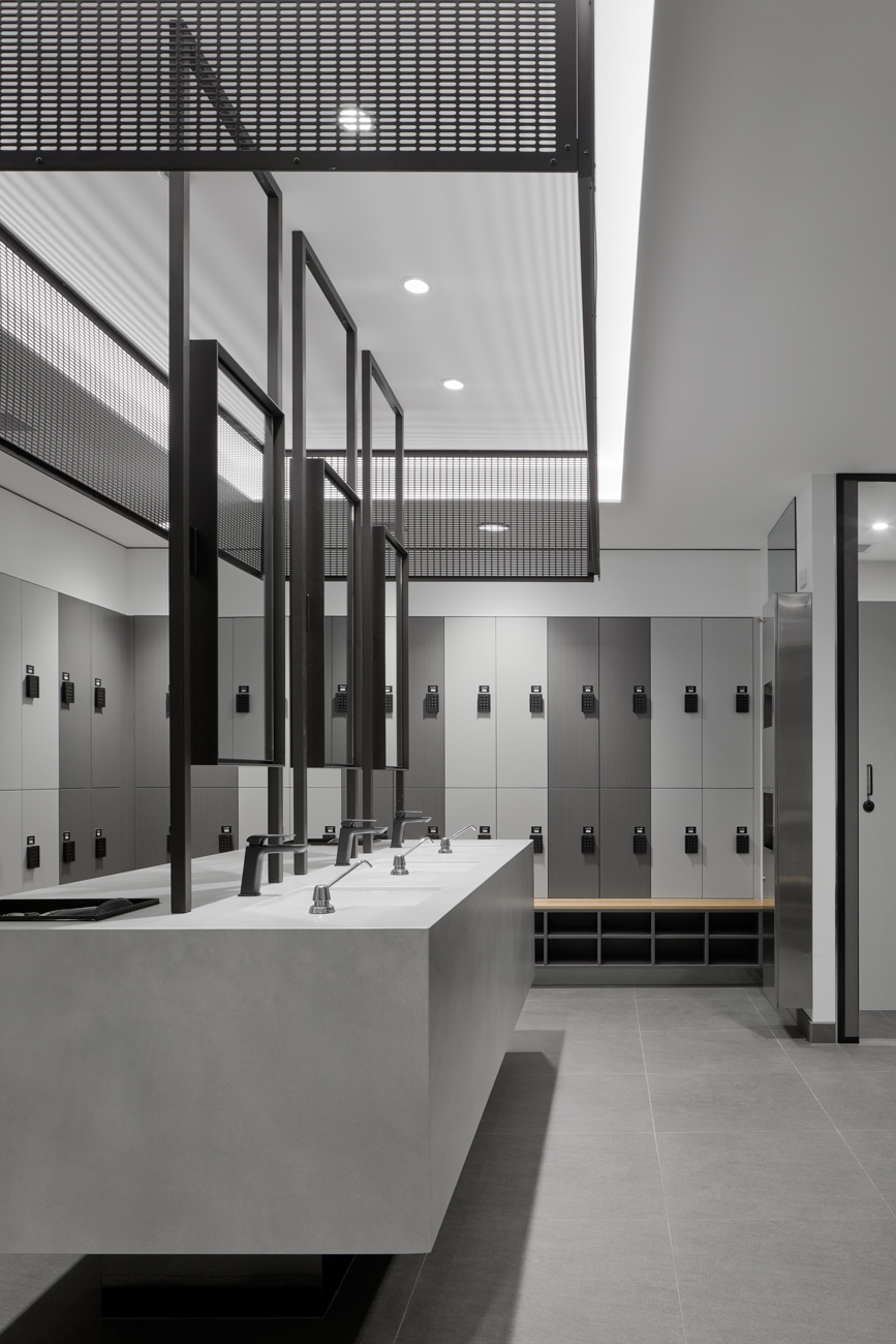 Change room lockers at 452 Flinders street