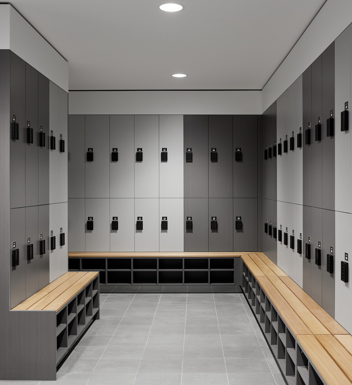 Lockers with bench seating in Melbourne
