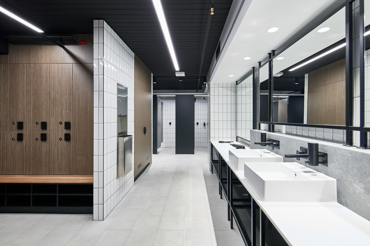 End-of-trip change room facility in Melbourne