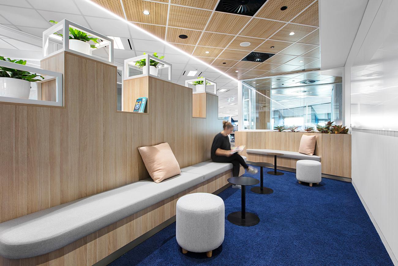 Custom lockers and bench seating by Lockin