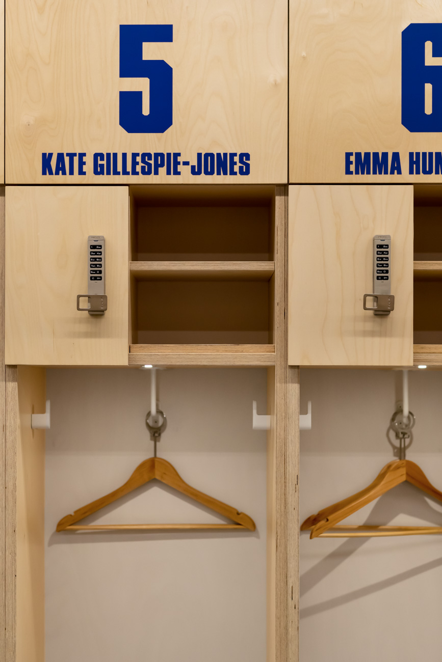 Details on North Melbourne Football club lockers